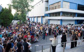 Πλήθος κόσμου έδωσε το «παρών» στην τελετή των εγκαινίων της 5ης Μπιενάλε Σύγχρονης Τέχνης Θεσσαλονίκης, που θα διαρκέσει έως τις 30 Σεπτεμβρίου.