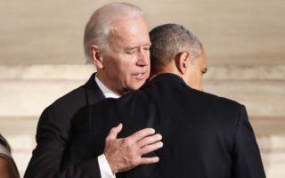 President Barack Obama hugs Vice President Joe Biden during funeral services for Biden's son, Beau Biden, Saturday, June 6, 2015, at St. Anthony of Padua Church in Wilmington, Del. (Yuri Gripas/Pool Photo via AP)