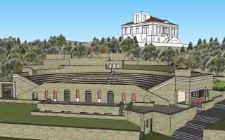 Για το νέο θέατρο και την υπερσύγχρονη σκηνή, δυναμικότητας 900 θέσεων, φρόντισε ο Ανδριώτης ευεργέτης Αλκιβιάδης Τάττος.