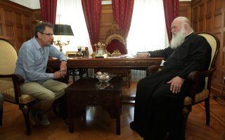 «Θα παρακολουθώ στενά τον δραστικό ρόλο του Αρχιεπισκόπου στην αντιμετώπιση της φτώχειας», είπε ο κ. Τσακνής.