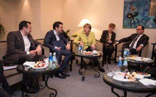 Μεγάλο μέρος των προσδοκιών της για γεφύρωση του χάσματος με τους δανειστές εναποθέτει η Αθήνα στη συνάντηση των κ. κ. Αλέξη Τσίπρα, Αγκελας Μέρκελ και Φρανσουά Ολάντ.