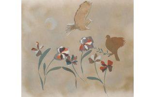 Eκθεση ζωγραφικής - χαρακτικής της Iριδας Ξυλά-Ξαναλάτου, εγκαίνια Σάββατο 18 Iουλίου στη Σύρο. Aκολουθώντας την πεταλούδα Λαλού στον κόσμο της φύσης και του παραδοσιακού παραμυθιού.