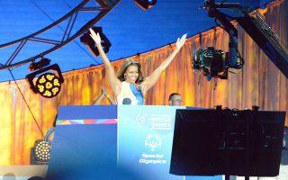 Η Michelle Obama έκανε την επίσημη έναρξη της Τελετής των XIV Παγκόσμιων Αγώνων Special Olympics L.A. 2015 με καλωσόρισμα και μήνυμα αγάπης για τους αθλητές απ' όλο τον κόσμο! (Photo Βασίλης Κουτρουμάνος)