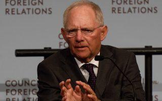 Ο υπουργός Οικονομικών της Γερμανίας, Βόλφανγκ Σόιμπλε (AFP/DON EMMERT)