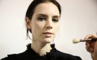 Backstage at the Lanvin fall 2015 show in Paris.<P><noscript><img width=