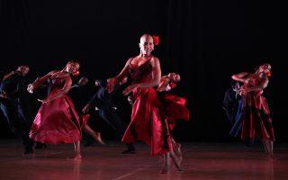 Η χορογραφία εμπεριείχε στοιχεία από φλαμένκο, αφρικανικά τελετουργικά, σύγχρονο χορό.