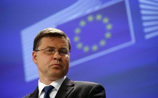 Ο αντιπρόεδρος της Ευρωπαϊκής Επιτροπής Β. Ντομπρόβσκις.
