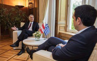 Ο αυστριακός καγκελάριος με τον Αλέξη Τσίπρα (φωτογραφία αρχείου)