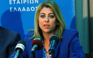 Η Γενική Γραμματέας Δημοσίων Εσόδων Κατερίνα Σαββαΐδου
