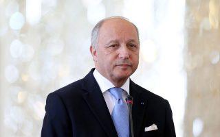 Ο Γάλλος υπουργός Εξωτερικών Λοράν Φαμπιούς.