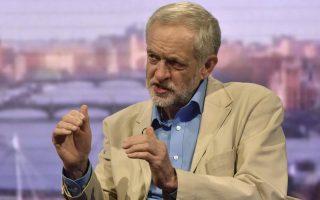 Ο υποψήφιος για την ηγεσία των Βρετανών Εργατικών, Τζέρεμι Κόρμπιν, κατά τη διάρκεια πρόσφατης συνέντευξης, την οποία παραχώρησε στο ειδησεογραφικό δίκτυο BBC.