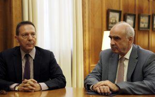 O πρόεδρος της ΝΔ με τον διοικητή της Τράπεζας της Ελλάδας, κ. Γιάννη Στουρνάρα.
