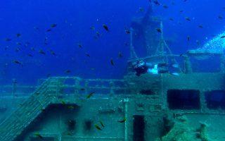 Η κατάδυση στο ναυάγιο του «Ζηνοβία» είναι εξαιρετικά ενδιαφέρουσα ακόμα και για τον αρχάριο δύτη.