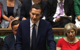 Ανακοινώνοντας τον προϋπολογισμό, ο Βρετανός υπουργός Οικονομικών, Τζορτζ Οσμπορν είπε ότι η Ελλάδα είναι παράδειγμα προς αποφυγήν, τονίζοντας ότι «όταν μια χώρα δεν ελέγχει τον δανεισμό της, καταλήγει ο δανεισμός να ελέγχει τη χώρα».