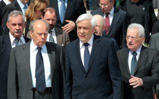 Ο πρόεδρος του Ιδρύματος «Κωνσταντίνος Γ. Καραμανλής» κ. Π. Μολυβιάτης.