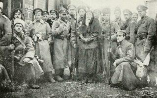 Εθελοντές του Λευκού Στρατού στη νότια Ρωσία τον Ιανουάριο του 1918.