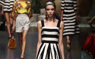 Dolce & Gabbana show at Milan Fashion Week summer 2012/13 and guests, Italy