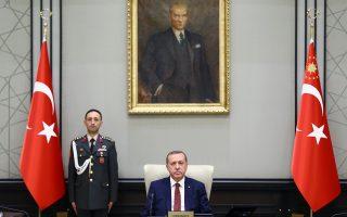 Ο Ερντογάν, καθ' οδόν προς τη συνεδρίαση του Εθνικού Συμβουλίου Ασφαλείας για την κατάσταση στα σύνορα.