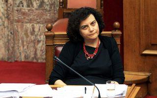 Η αναπληρώτρια υπουργός Οικονομικών, Ν. Βαλαβάνη