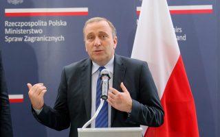 Ο Πολωνός υπουργός Εξωτερικών, Γκρέγκορζ Σχετίνα.