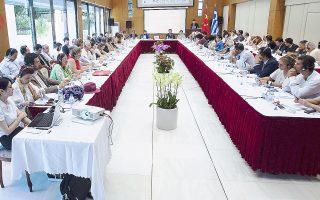 Ελληνες και Κινέζοι εκπρόσωποι πολιτιστικών οργανισμών συγκεντρώθηκαν την Παρασκευή στην Πρεσβεία της Κίνας.