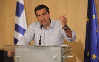 Αποφασισμένος να υπερασπιστεί την πολιτική του εμφανίζεται ο πρωθυπουργός Αλέξης Τσίπρας.