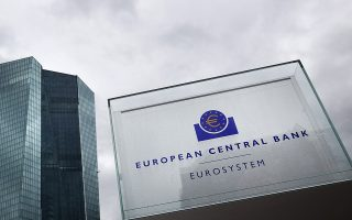 The headquarters of the European Central Bank (ECB) is pictured in Frankfurt am Main, western Germany, on June 22, 2015. The ECB's governing council will hold a special meeting to examine whether to raise the level of emergency funding for Greek banks, sources told AFP, after Greece's banking system came under intense pressure with clients withdrawing billions in savings.    AFP PHOTO / DANIEL ROLAND