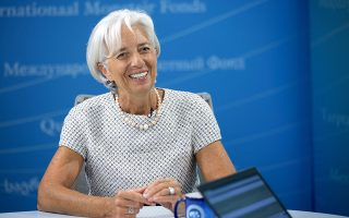 International Monetary Fund  Managing Director Christine Lagarde answers questions during a virtual press conference July 29, 2015 at IMF Headquarters In Washington, DC. Lagarde said Wednesday that China could weather the turmoil battering its stock exchanges.
