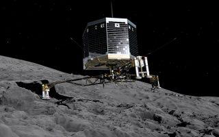Απεικόνιση της προσεδάφισης του «χαμένου» εξερευνητικού οχήματος Philae στην επιφάνεια του κομήτη 67Ρ τον Νοέμβριο του έτους 2014.