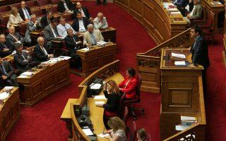 Τυπικό και μόνον ενδιαφέρον είχε το αποτέλεσμα της ψηφοφορίας στη Βουλή για το τρίτο μνημόνιο, αφού ο κ. Αλέξης Τσίπρας έχει αποφασίσει ήδη την προσφυγή στις κάλπες, αν και δεν έχει προσδιορίσει την ακριβή ημερομηνία.