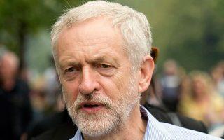 Ο επικρατέστερος υποψήφιος για την ηγεσία των Βρετανών Εργατικών, Τζέρεμι Κόρμπιν, χθες στο Λονδίνο.
