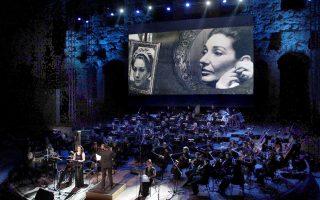 Στιγμιότυπο από την παράσταση «Πριμαντόνα» του Ρούφους Ουέινραϊτ στο Ηρώδειο.