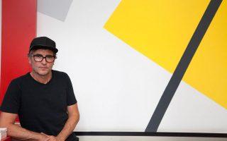 Ο Γερμανός καλλιτέχνης Mischa Kuball, ιθύνων νους της σημερινής δράσης.
