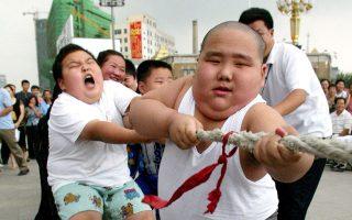 Παχύσαρκα παιδιά σε κατασκήνωση για την καταπολέμηση της παιδικής παχυσαρκίας συμμετέχουν σε δραστηριότητες στην πόλη Σενγιάνγκ της βορειοανατολικής Κίνας.