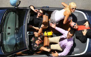 Η ομάδα των ηθοποιών του Roadtrip (φωτό: June Whitefield)