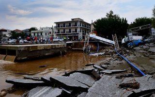 Οι καταστροφές στη Σκόπελο από τη θεομηνία της Τρίτης είναι πολύ μεγάλες σε υποδομές και κατοικίες.