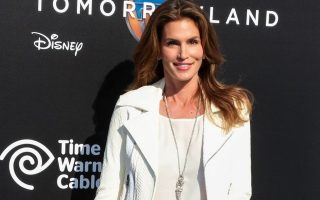 ANAHEIM, ORANGE COUNTY, LOS ANGELES, CA, USA - MAY 09: Model Cindy Crawford arrives at the Los Angeles Premiere Of Disney's 'Tomorrowland' held at the AMC Downtown Disney 12 Theater on May 9, 2015 in Anaheim, Orange County, Los Angeles, California, United States. (Photo by Xavier Collin/Image Press/Splash)