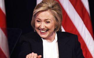 Η πρώην υπουργός Εξωτερικών των ΗΠΑ Χίλαρι Κλίντον μιλάει σε προεκλογική της συγκέντρωση στο New School της Νέας Υόρκης, τον Ιούλιο.