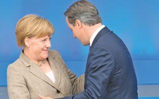 Φωτογραφία αρχείου από την περυσινή συνάντηση της καγκελαρίου με τον Βρετανό πρωθυπουργό στην Ουαλλία.