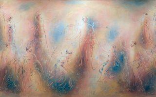 «Η αποθέωση του Περικλή», τοιχογραφία του Γιώργου Γουναρόπουλου που βρίσκεται στην Αίθουσα Συνεδριάσεων του Δήμου Αθηναίων.