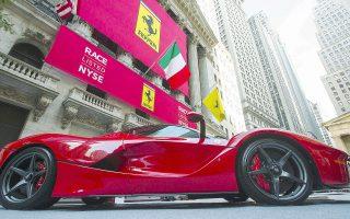 H εισαγωγή της Ferrari στο χρηματιστήριο της Νέας Υόρκης είναι η πλέον πρόσφατη δημόσια εγγραφή. Η τιμή εισαγωγής διαμορφώθηκε στα 53 δολάρια και το ντεμπούτο της μετοχής στο ταμπλό της Wall Street ήταν επιτυχές, καθώς ανέβηκε στα 60 δολάρια σημειώνοντας άνοδο 15%.