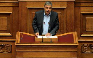 Ο αναπληρωτής υπουργός Διοικητικής Ανασυγκρότησης Χριστόφορος Βερναρδάκης.