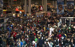 Το New York Comic Con πραγματοποιείται σε έναν τεράστιο εκθεσιακό χώρο στο Javits Center, στο Μανχάταν.