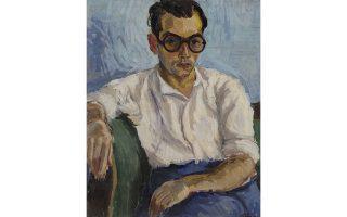 Πορτρέτο του αδελφού του ζωγράφου, Γ. Δάβη. Ενα από τα πολλά λάδια που εκτίθενται στην Πειραιώς.