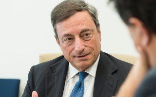 «Από την πλευρά της ΕΚΤ, το ενδεχόμενο εξόδου της Ελλάδας από τη Ζώνη του Ευρώ δεν τέθηκε ποτέ», διαβεβαιώνει την «Κ» ο κ. Ντράγκι.