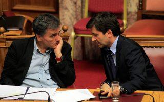 Η ελληνική πλευρά προσήλθε στις συζητήσεις για την αξιολόγηση. Ωστόσο οι δανειστές απέφυγαν να προβούν σε δηλώσεις που θα προκαλούσαν ένταση.
