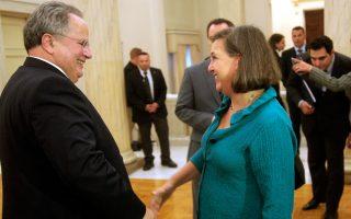 Ενθουσιασμένη «με τον ρόλο που η Ελλάδα μπορεί να διαδραματίσει στην ενεργειακή ασφάλεια της Ευρώπης» δήλωσε η κ. Βικτόρια Νούλαντ, μετά τη συνάντησή της με τον κ. Νίκο Κοτζιά στην Αθήνα.