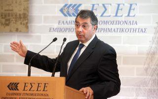 Ο πρόεδρος της ΕΣΕΕ, Βασίλης Κορκίδης