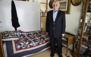 Ο Φετουλάχ Γκιουλέν στη διάρκεια συνέντευξης που παραχώρησε στην κατοικία του, στην Πενσιλβάνια.