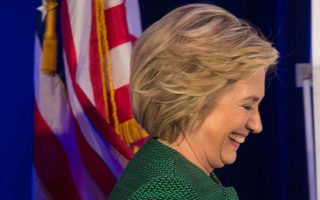 Η υποψήφια για το χρίσμα των Δημοκρατικών Χίλαρι Κλίντον σε πρόσφατη ομιλία της στην Αλάσκα.